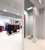 Interior of dressing room at cloth store — Photo