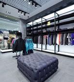品牌新的内饰的布料店 — 图库照片