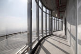 Raw concrete interior at the top of dubai — 图库照片