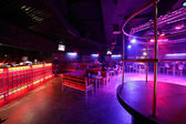 Beautiful european night club interior — 图库照片