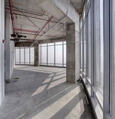 Raw concrete interior at the top of dubai — Stock Photo