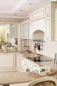 Interior of modern european kitchen — Stock Photo