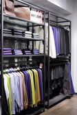 Brand new interior of cloth store — Stockfoto