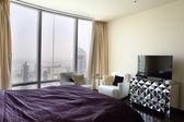 好内部的欧洲卧室 — 图库照片