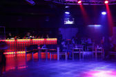 Beautiful european night club interior — Stock Photo