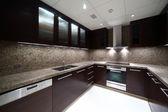 Interior of modern european kitchen — Stock Photo