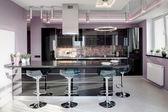 Interiér moderní evropské kuchyně — Stock fotografie
