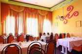 European restaurant in bright colors — Zdjęcie stockowe