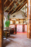 European restaurant in bright colors — Stockfoto