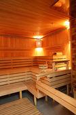 Inneneinrichtung moderne hölzerne sauna — Stockfoto