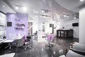 Interior of modern beauty salon — Stock Photo