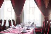 European restaurant in bright colors — 图库照片