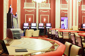 Bright and fashionable casino with tables — ストック写真