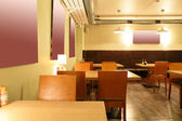 European restaurant in bright colors — Foto de Stock