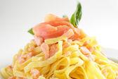Italian pasta on white background — Stock Photo