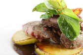 Tasty meat on white background — Stock Photo