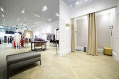 Interior of dressing room at cloth store — Foto de Stock