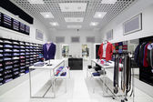 Brand new interior of cloth store — Stock Photo