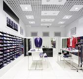 Helt ny interiör av tyg butik — Stockfoto