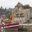 The harbor of honfleur — Stock Photo