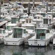 Fish ships in the harbour — Stock Photo
