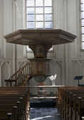 Pulpit in a dutch church — Stock Photo