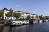 Boats in the centre of middelburg — Stock Photo