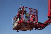 Hydraulic platform — Stock Photo