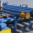 Pipes on the deck — Stock Photo