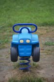Blue toy car — Stock Photo