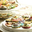 Group of cupcakes and biscuits — Stock Photo