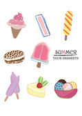 Ice cream collection — Stock Vector