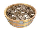Wooden bucket — Stock Photo