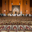 Stock Photo: Srinagar Jama Masjid Prayer Hall Praying V