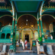 Stock Photo: Srinagar Shah E HamdMosque Front Entrance