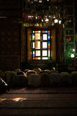 Srinagar Shah E Hamdan Mosque Interior Praying V — Stock Photo
