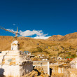 Stock Photo: StupNako Spiti Valley Buddhist Village India