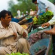 Dal Lake Floating Market Boat Paying Money Sale — Stock Photo