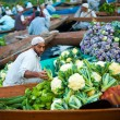 Dal Lake Floating Market Boat Full Vegetables — Stock Photo