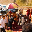 Dharamsala Dalai Lama Surrounded Entourage — Stock Photo