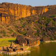 Stock Photo: High Angle BhutanathGroup Temples Tank Badami