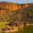 High Angle Bhutanatha Group Temples Tank Badami — Stock Photo