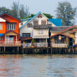 Stock Photo: Over Water River Stilt Residential Houses Bangkok