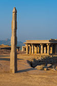 Free Standing Column Temple Hampi Obelisk — Stock Photo