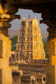 Hampi Framed Virupaksha Temple Ruins Ancient — Stock Photo
