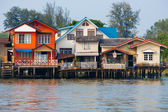 Over Water River Stilt Residential Houses Bangkok — Stock Photo