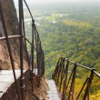 Stock Photo: SigiriyRock Steep Metal Stairs Landscape Below