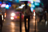 Out Of Focus Street Prostitute Headlights Night — Stock Photo