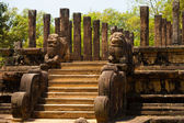 Front Audience Hall Polonnaruwa Ruins Angled — Stock Photo