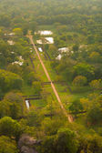 Sigiriya Gardens Overview Down From Top — Stock Photo